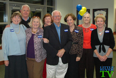 Senator Dick Elliott and supporters at the CB Berry Community Center in Little River